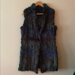 Love token rabbit fur vest